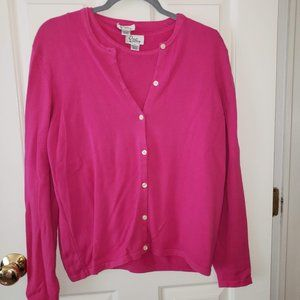 Lilly Pulitzer Shell and Cardigan - Pink Size L